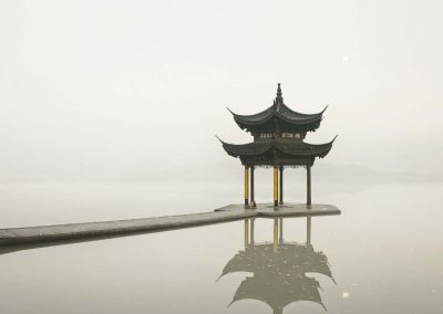 Pagoda, West Lake, Hangzhou, China, 2011