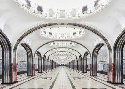 Mayakovskaya Station, Moscow, Russia, 2014