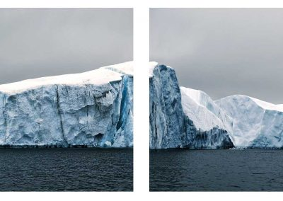 Melting Iceberg, Antarctica (Diptych), 2007