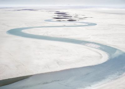 Salt Flat And Stream, Sea Of Cortez, Mexico, 2016