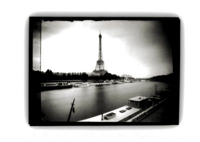 Eiffel Tower & Barge, Paris, Edition 2/15, 1991. Dianne Bos