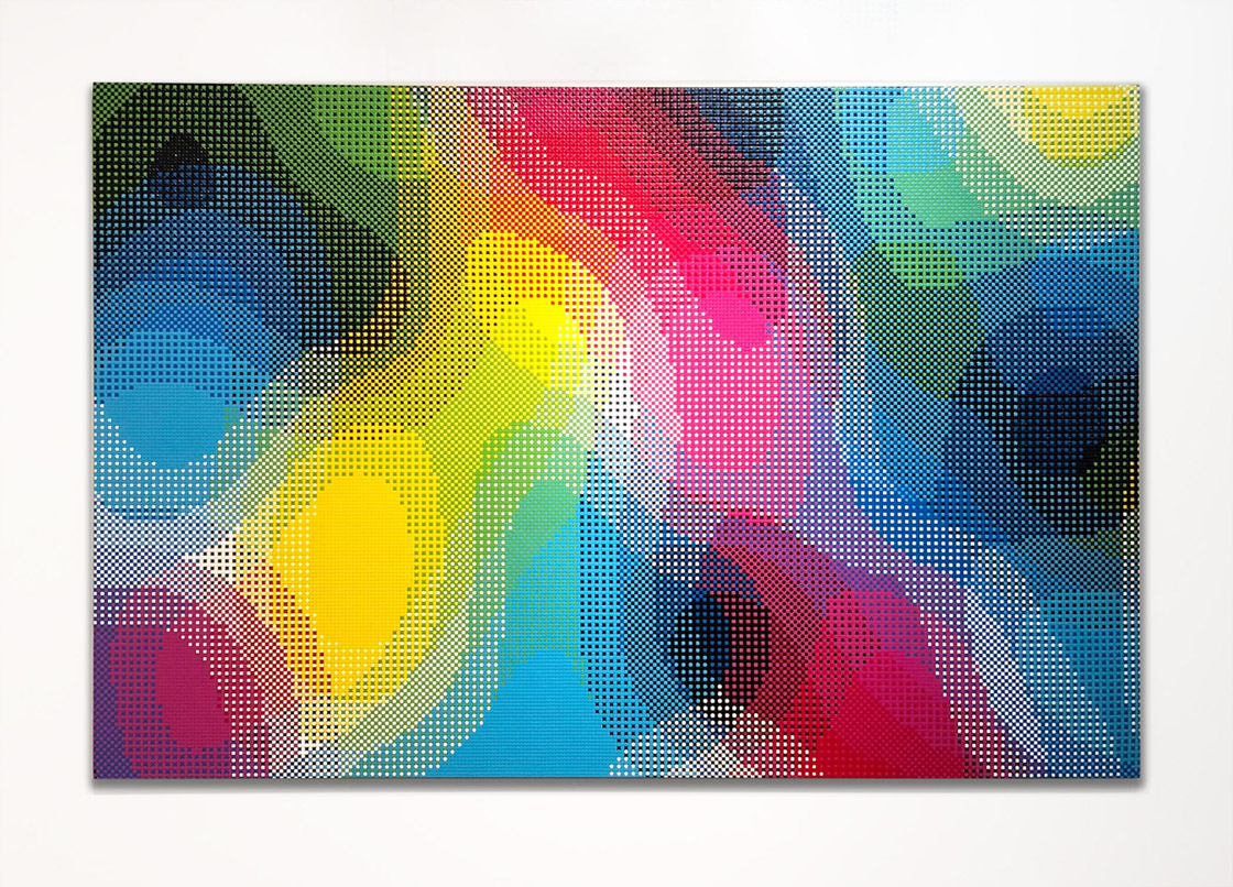 William Betts Spiral, ColorSpace III, 48x72, 2016