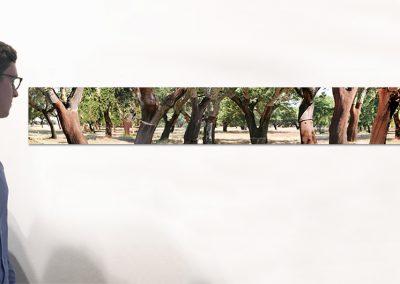"Rodeio, 9.5"" x 78.5"", Installation - Georg Kuettinger"
