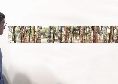 """Najara, 9.5"""" x 78.5"""", Installation - Georg Kuettinger"""