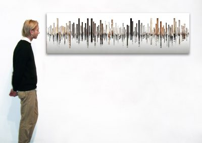 "Laguna 4, Italy, 21"" x 70"", Installation - Georg Kuettinger at Kostuik Gallery"