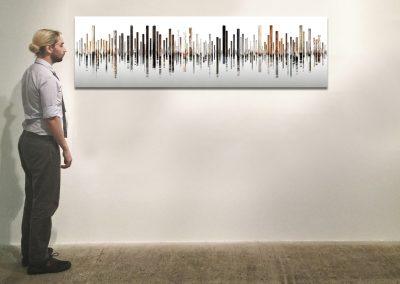 "Laguna 4, Italy, 29.5"" x 106"", Installation - Georg Kuettinger at Kostuik Gallery"