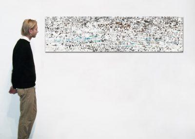 "Marmor, 18"" x 71"", Installation - Georg Kuettinger"