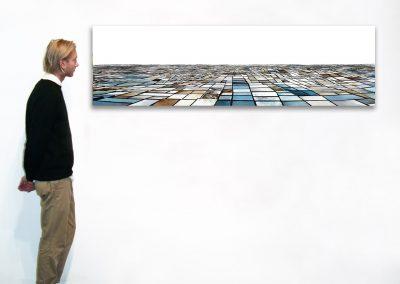 "Salinas - Seasonal Sequence, 21"" x 71"", Installation - Georg Kuettinger"