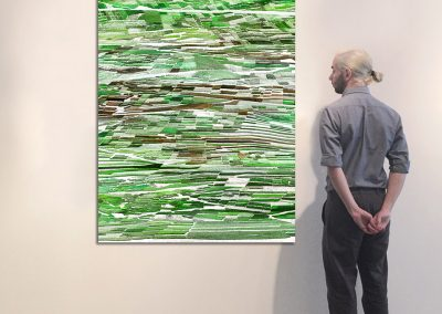 "Vignobles 2, 69"" x 43"", Installation - Georg Kuettinger"