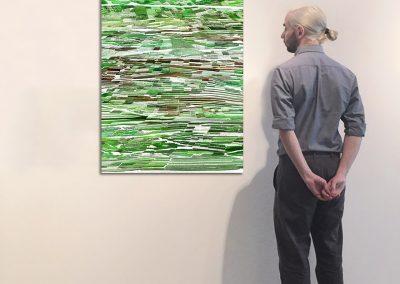 "Vignobles 2, 47"" x 30"", Installation - Georg Kuettinger"
