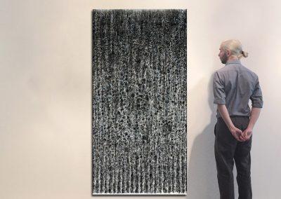 """Waterfall, 78.5"""" x 39.5"""", Installation - Georg Kuettinger"""