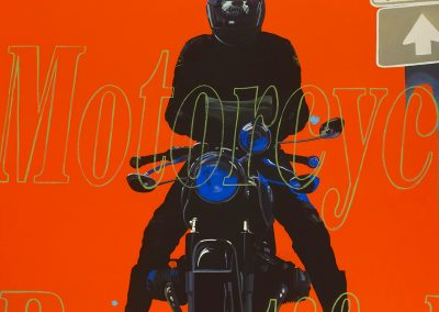 Orange Rider, Motorcycle Beautiful (Navigating Man, From Eight Days)