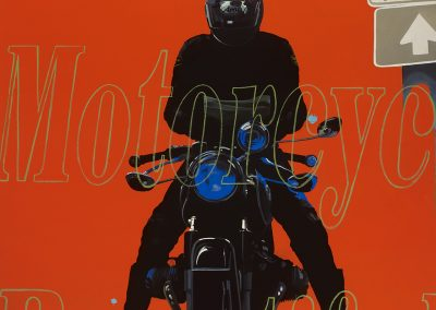 James Lahey – Orange Rider, Motorcycle Beautiful (Navigating Man, From Eight Days)