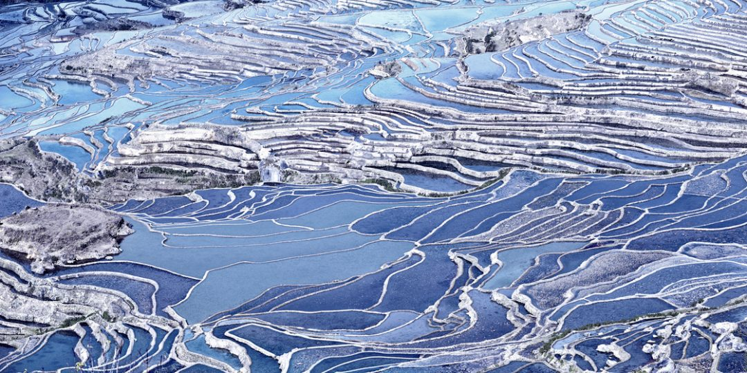 Rice Terraces (Blue), Yuanyang, Yunnan, CN - David Burdeny