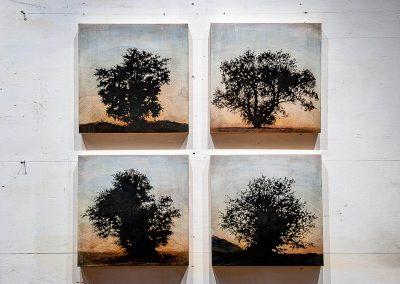 Tree grid, 4 panels (Family series) - Stephen Hutchings