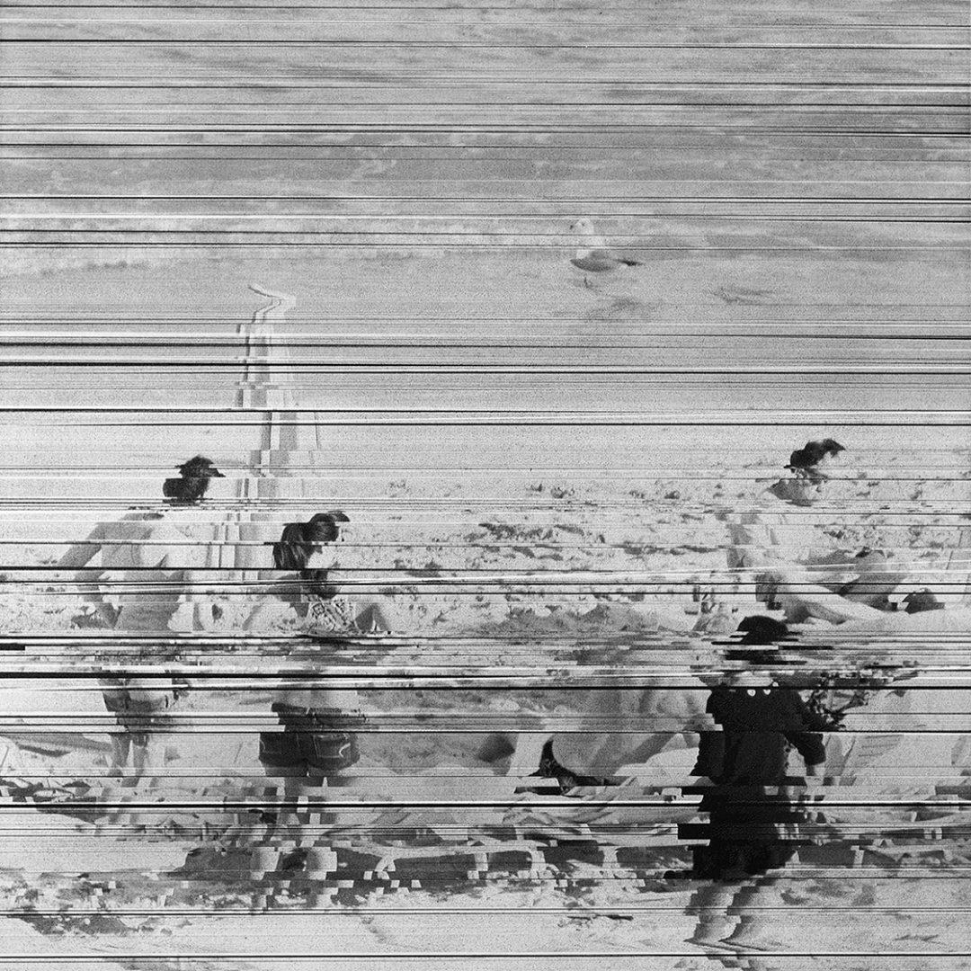 """Bathers, Miami Beach II, 24"""" x 24"""" - William Betts"""