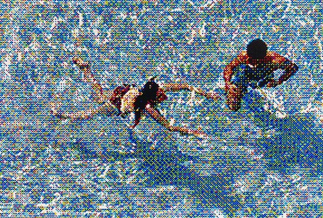 "Swimmers III, Miami Beach, 48"" x 72"" - William Betts"
