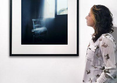 25 x 25 inch framed installation view