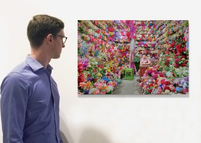 Flower Vendor, Yiwu, China 2019, (Installation) by David Burdeny at Kostuik Gallery